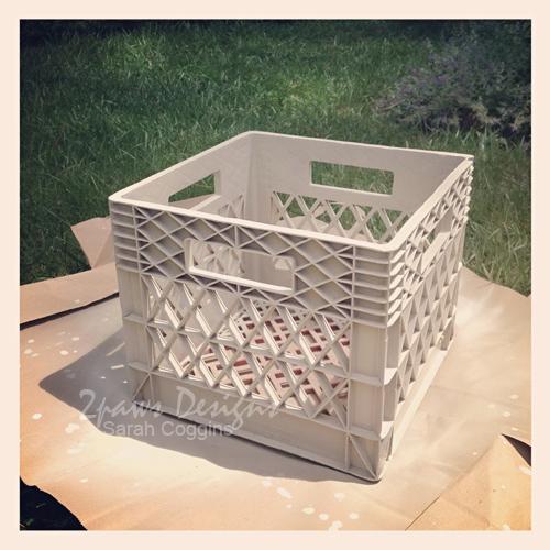 After: Repurposed Milk Crate