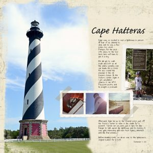 Cape Hatteras Lighthouse Digital Scrapbook Page