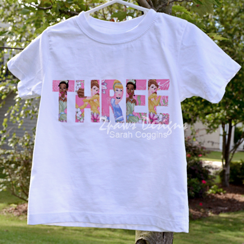 Princess 'Three' T-Shirt
