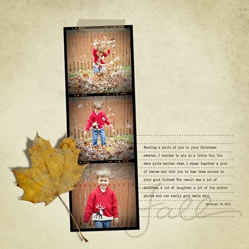 Fall Leaves digital scrapbooking page