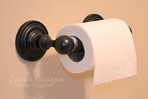 Updated Bathroom Hardware: Toilet Paper Holder After #foreclosuretohome