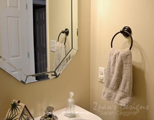 Updated Bathroom Hardware: Towel Ring After #foreclosuretohome