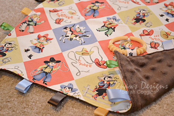 Cowboy Ribbon Blanket for Baby - Detail Photo