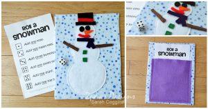 DIY Roll A Snowman game