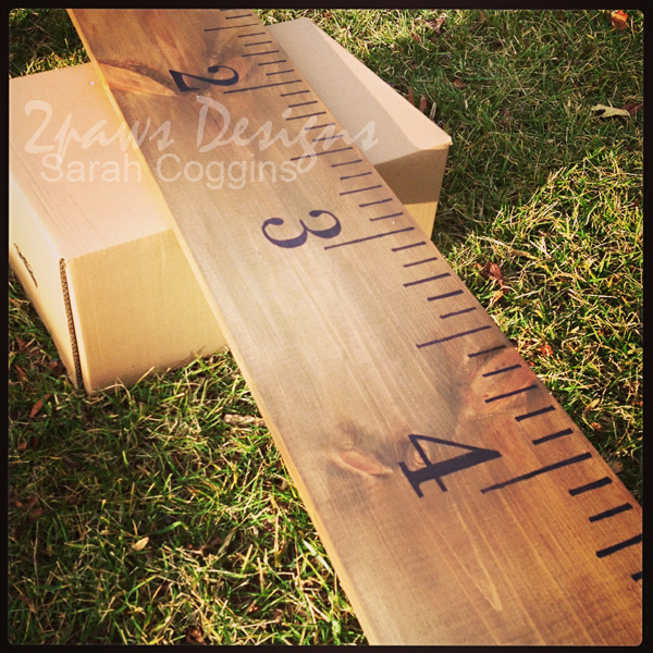 Diy Giant Ruler Growth Chart 2paws Designs