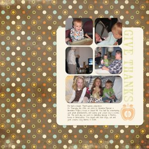 Thanksgiving 2010 digital scrapbooking page