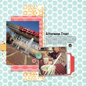 Afternoon Treat: February 2013 digital scrapbooking page