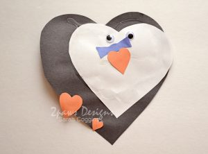 Heart Penguin craft
