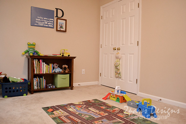 Toddler Room: Bookcase & Art