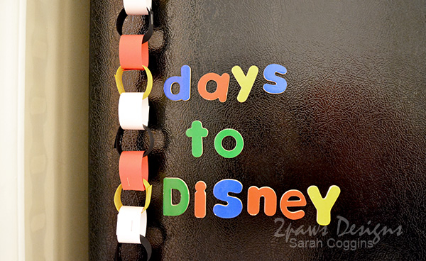 Disney Countdown Chain detail