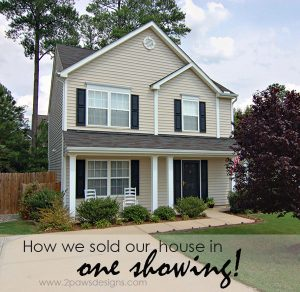 How We Sold Our House in One Showing