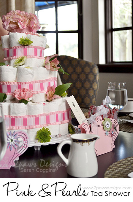 Pink and Pearls Tea Baby Shower: Table