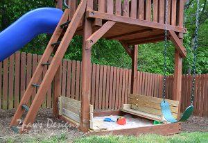 Sandbox Lid & Bench: Open