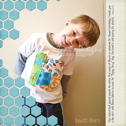 Seuss Shirt digital scrapbook layout