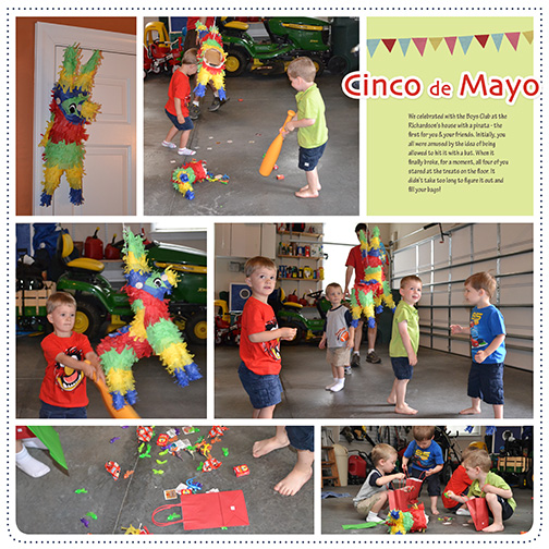 Cinco de Mayo 2012 digital scrapbooking page