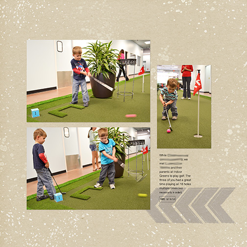 Indoor Mini Golf digital scrapbook page