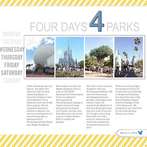 Disney 2013: 4 Parks Title Page