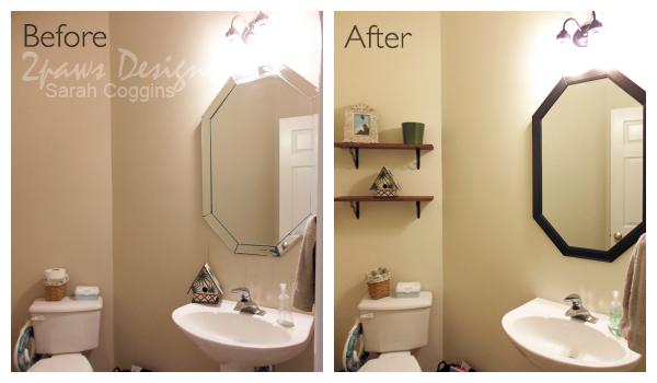 Half Bath Remodel: Before & After #foreclosuretohome