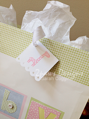 Easy DIY Gift Bag Tag for a Baby Shower