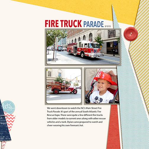 North Carolina's Main Street Fire Truck Parade 2013