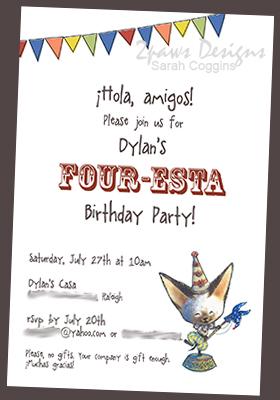 Four-esta Party Invitation