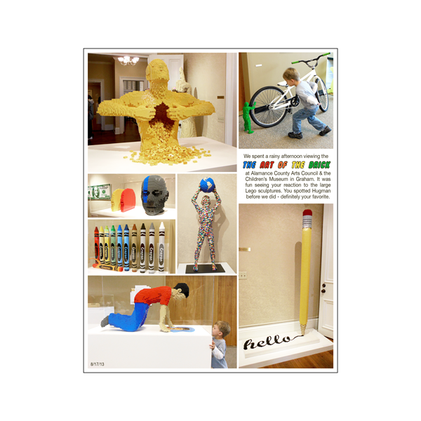 The Art of the Brick digital scrapbook page