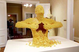 Yellow Lego Sculpture by Nathan Sawaya