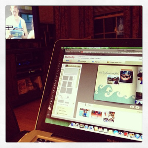 #weekinthelife #latergram Watching Big Brother (my 1 reality show addiction) and working on @shutterfly photo book of our #Disney trip. Had hoped to finish but 1 page to go and I need to get to bed.