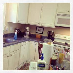 Not sure what has come over me but my kitchen is getting a deep cleaning this morning. Halfway through. #weekinthelife #foreclosuretohome