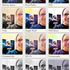 Playing with a selfie in PicTapGo. #weekinthelife