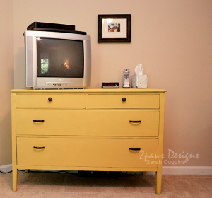 Painted Yellow Dresser: Complete