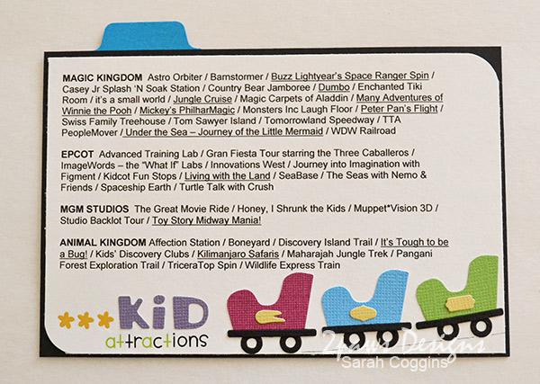 Disney Trip Envelope 2013: Kid Attraactions