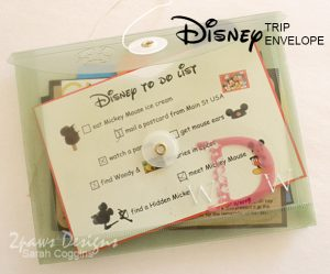 Disney Trip Envelope 2013: outside