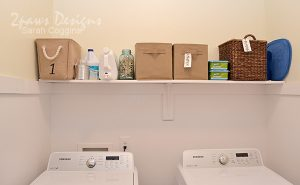 Laundry Room: Open Shelf After