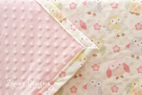 Owl Baby Blanket: Detail