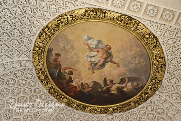 Ceiling of the Queens College Chapel, Oxford University