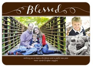 Shutterfly Blessed Christmas Card