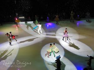Princesses dancing in Disney on Ice: Let's Celebrate!