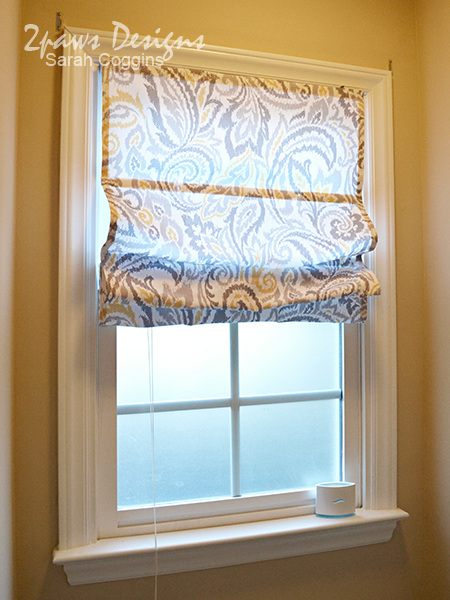 Diy Roman Shades From Mini Blinds 2paws Designs