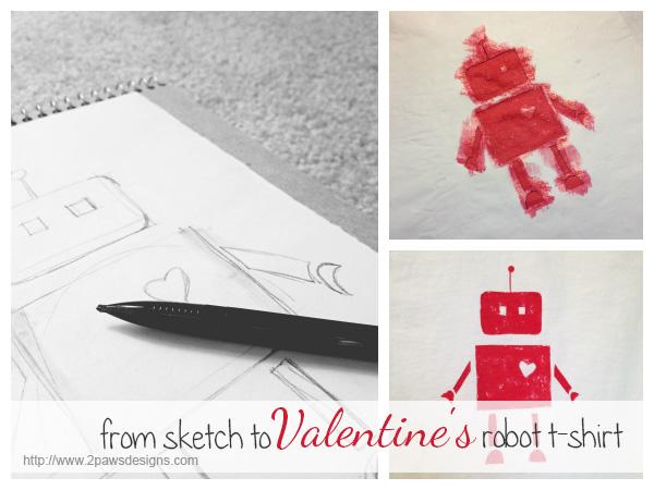 DIY Valentines Robot Shirt