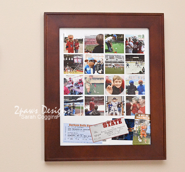Sports Poster Collage framed