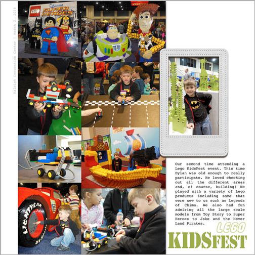 Lego KidsFest 2014 digital scrapbook page