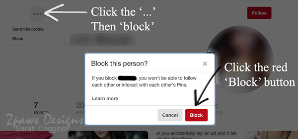 3 Simple Steps to Block Users on Pinterest: Step 1 - Fall 2016