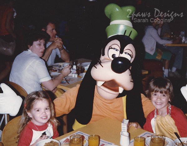 Breakfast with Goofy at the Contemporary in Walt Disney World: 1984