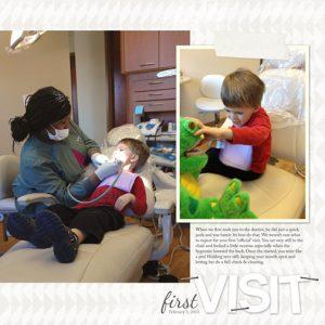 First Dentist Visit digital scrapbooking layout