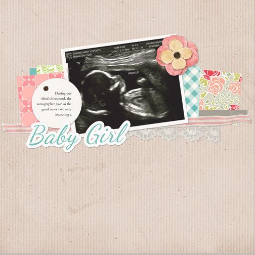 Baby Girl scrapbook page - May 2014