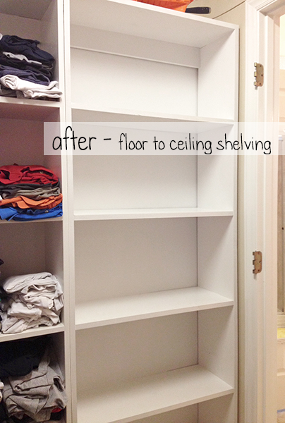 Master Closet: Shelving After