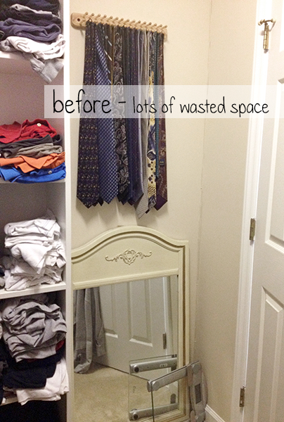 Master Closet: Shelving Before