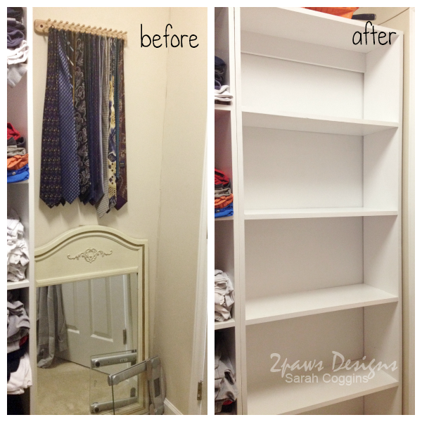 Master Closet: Shelving (before & after)