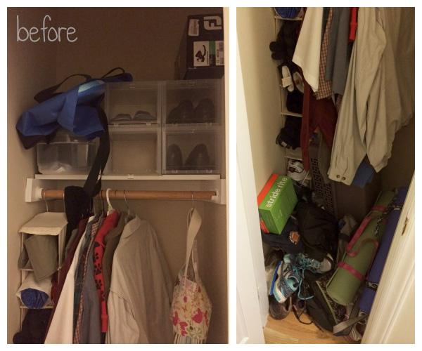Small Coat Closet Makeover: Before